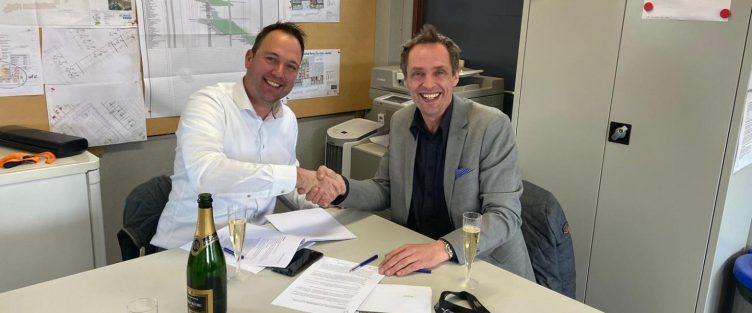 Ondertekening projectovereenkomst 21 huurappartementen Het Gildehof in Nootdorp