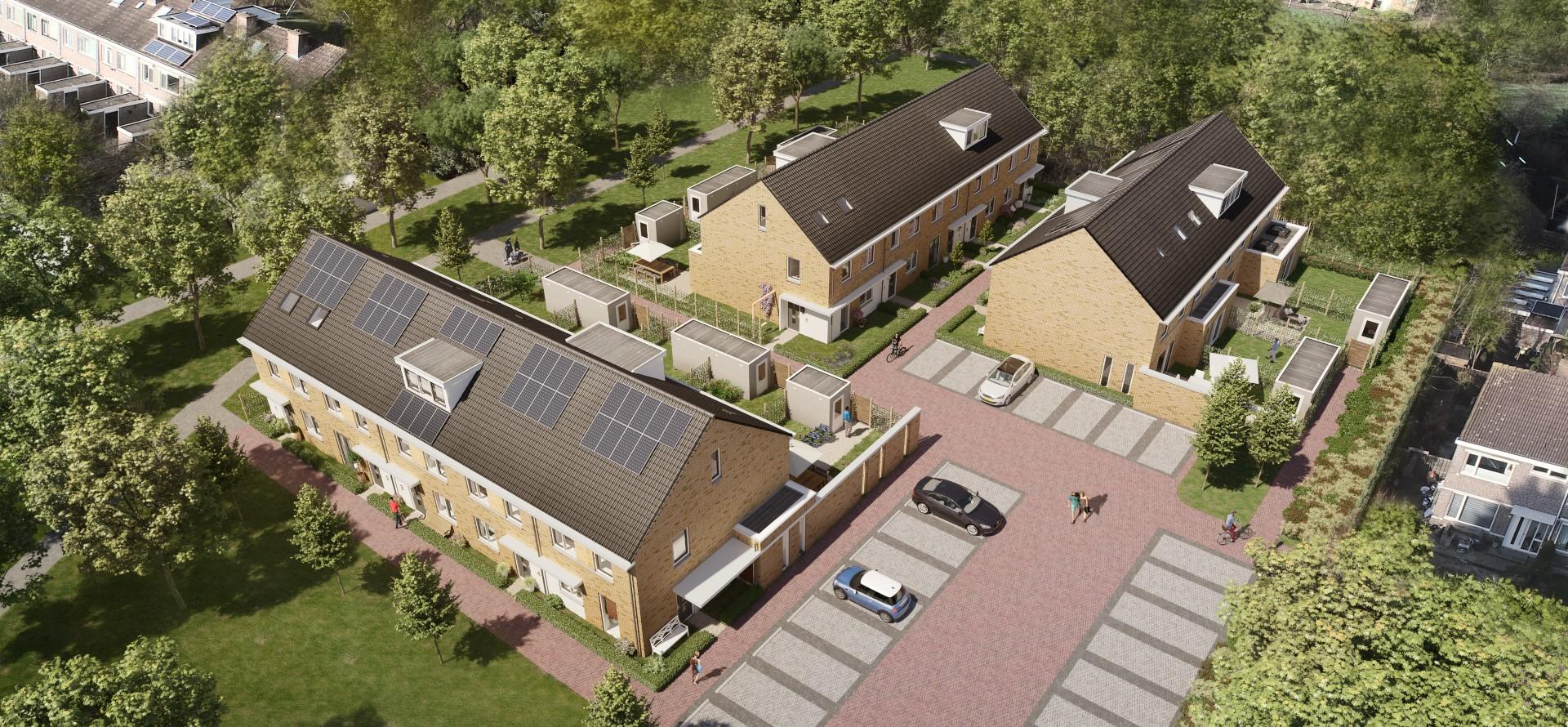 Wonen in de Maere: een intiem woonhof met 14 eengezinswoningen in Heemskerk