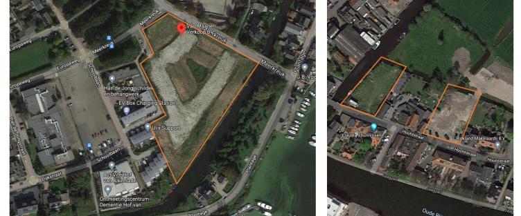 Thunnissen en Rademaker kopen twee percelen bouwgrond aan de Meerkreuk te Oude Wetering en de Hoofdstraat te Leiderdorp
